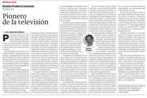 Ramón Pradera, pionero de la television