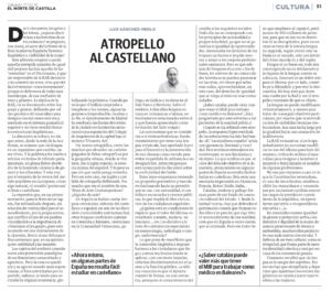 Atropello al castellano articulo