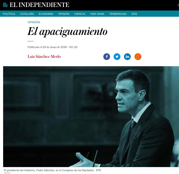 El apaciguamiento El Independiente