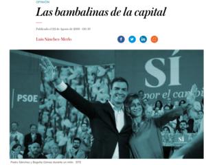 Las bambalinas de la capital
