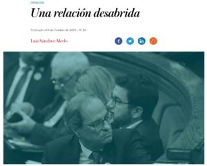 Una relacion desabrida El Independiente